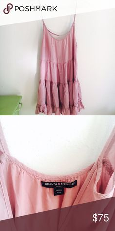 Brandy Melville | blush jada Brandy Melville jada dress  * amazing condition  * no flaws   offers through the offer button- make an offer!!  My friend just gave this to me and JUST bought one! The dress is awesome! Now that I already have one, I want to give mine to someone who'd love it! 😆 Brandy Melville Dresses