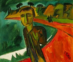 Karl Schmidt-Rottluff - Evening by the Sea