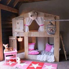 Cute play bed