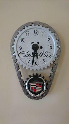 Cadillac clock Cadillac, Clock, Diy Clock, Random Stuff, Watch, Clocks