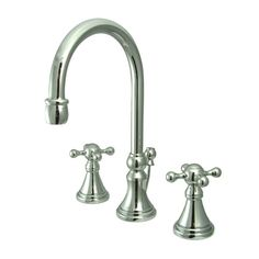 Found it at Wayfair - Governor Double Handle Widespread Bathroom Faucet with Brass Pop-Up Drain