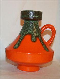 UFO style Green Lava over a vibrant orange base by morethanfatlava, $45.00