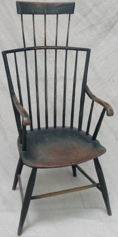 Windsor comb-back armchair.