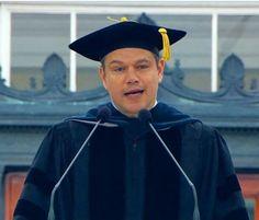 Pisando charcos: Elijan un problema o el mensaje de Matt Damon en el MIT 9/06/2016