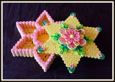 Trupti's Craft: Star Shape Paper Quilling Box With Compartments.