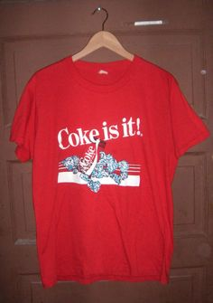 Coke is it Vintage Coca Cola TShirt by THESALTYFAWN on Etsy
