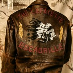 The Lafayette Escadrille WW1 replica jacket. American pilots that volunteered to…