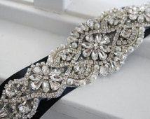 Свадебный пояс, пояс для новобрачных, Саш пояса, горный хрусталь пояса Кристалл, стиль 140