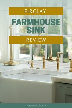 Read Annie and Oak's Fireclay Farmhouse Sink Review.  We have included the Pros, Cons