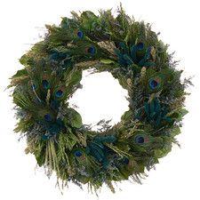 Pretty Peacock Wreath