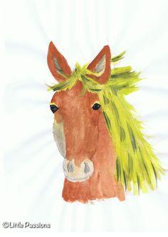 Pferd mit Wasserfarben