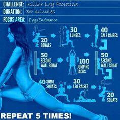 Full leg workout challenge