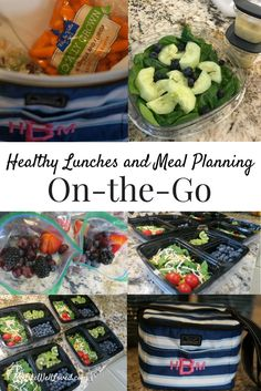Meal Prep Tips and meal planning ideas with lunches on the go from Heather Brown of MyLifeWellLoved.com // Family dinner recipe / salad ideas for lunch // bags for fruit and healthy food on the go