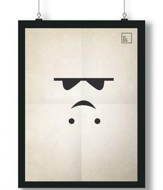 Pôster/Quadro minimalista Star Wars – Stormtroomper