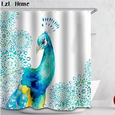 Bath Shower Curtains 3d Peacock Feather 8 Shower Curtain Waterproof Fiber Bathroom Windows Toilet