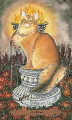 Example card from the Mystical Cats Tarot deck. DISCOVER MORE: http://www.tarotacademy.org/mystical-cats-tarot/