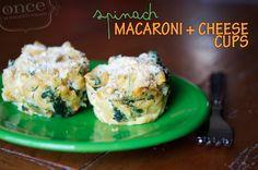 Spinach Mac & Cheese Cups