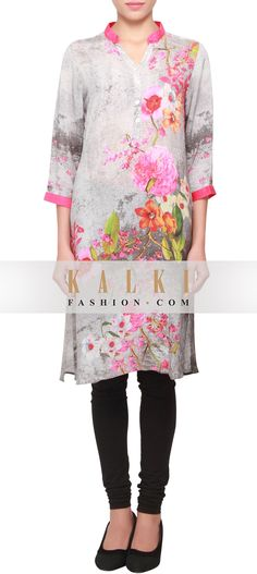 Buy Online from the link below. We ship worldwide (Free Shipping over US$100) http://www.kalkifashion.com/featuring-crepe-kurti-in-multi-color-print-only-on-kalki.html