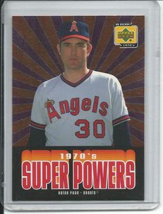 Nolan Ryan California Angels 2001 Upper Deck Decade 1970's super powers baseball card #SP6