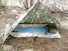 Tarp Shelters I thought I'd write a bit about one of the most basic, overlooked and old fashioned bits of gear around, the simple tarp. Tarp Shelters, Camping Shelters, Shelter Tent, Camping Tarp, Stealth Camping, Camping Hacks, Camping Stuff, Survival Skills, Survival Gear