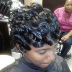 Terrific Pin Curls Updo Hairstyle For Black Women Updo Pictures Of And Hairstyle Inspiration Daily Dogsangcom