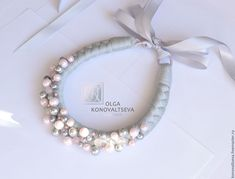 """Купить Чокер """"Нежность"""" - серый, стильное украшение, стильный аксессуар, подарок девушке, подарок женщине"""