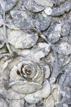 Beautifully carved rose in stone