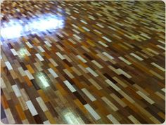 Interesting effect created by different coloured woods. Hardwood Floors, Flooring, Woods, Restoration, Nice, Color, Wood Floor Tiles, Wood Flooring, Woodland Forest