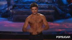 Zac Efron Shirtless at the MTV Movie Awards 2014 | POPSUGAR Celebrity