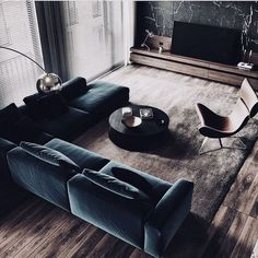 Living Room Interior Apartment - Modern Apartment Interior ideas that Grab Everyone's Attention Best Living Room Design, Living Room Modern, Living Room Interior, Home Living Room, Apartment Living, Contemporary Living Rooms, Cool Living Room Ideas, Contemporary Sofa, Urban Living Rooms