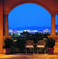 Sweet balcony view from JW Marriott Las Vegas Resort & Spa.