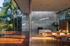 Gallery of LLM House / Obra Arquitetos - 47 Architecture 101, Factory Architecture, Tropical Architecture, Metal Beam, Loft Studio, Architect House, Patio, Building A House, House Design