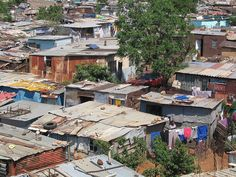 Seeing the informal settlements in Soweto and the surrounding areas around Joburg