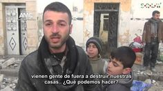via @S_R_L_W Entrevista con habitantes del barrio #TaríqAlbab #Alepo después de ser bombardeados...