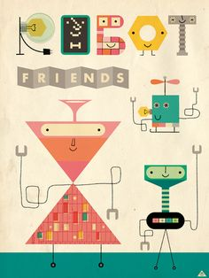 Eric Comstock Illustration I'm lov­ing the play­ful retro style of Eric Comstock's illus­tra­tions.