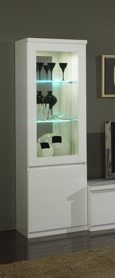 1000 images about colonnes on pinterest shelves tvs for Vitrine salle a manger