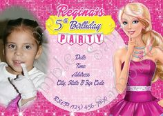Barbie Party Invitation, Barbie Party, Barbie birthday, Barbie Birthday party, Barbie invitations