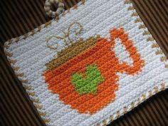 Coffee Time Potholder Crochet PATTERN. $2.50, via Etsy.