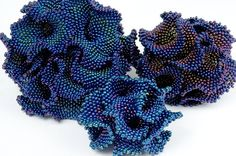 Sue Von Ohlsen | Hyperbolic Crochet Coral Reef - beaded
