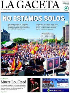 Los Titulares y Portadas de Noticias Destacadas Españolas del 28 de Octubre de 2013 del Diario La Gaceta ¿Que le pareció esta Portada de este Diario Español?