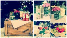 Just Darling: Foodie Friday- Lets Picnic Picnic Decorations, I Party, Picnics, Crates, Celebrations, Mason Jars, Vintage Items, Friday, Let It Be