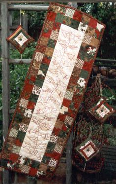 Christmas table runner....we could do this together.