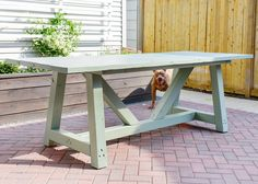 Painting Our DIY Patio Table, Part II