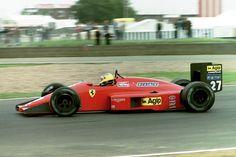 Michele Alboreto, Ferrari F1/87 - Ferrari Tipo 033 1.5 V6 (t/c - 4.0 Bar limited) (Great Britain 1987)