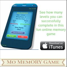 Memory game developed by John Oshodi that challenges your cognitive skills.Improve your Memory, Attention, and Mental Agility skills with #MoMemoryGame