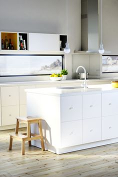 Ikea Kitchen Ideas And Inspiration ikea high gloss white (ringhult design) accented with black