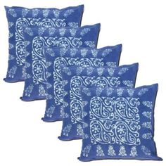 Blue Floral Cotton Pillowcases 18 X 18 Spring Decorations Set Of 5 Spring Decorations, Sofa Cushion Covers, Pillowcases, Pattern Fashion, Cushions, Fancy, Throw Pillows, Amazon, Floral