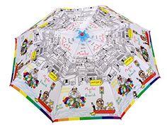 Sun Umbrella Sun Brand Julia Mumbai Rains - Auto Open & Auto Shut Umbrella # White # Polyester # Printed