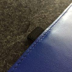 iPad Pro 12.9 inches. Para Apple Pencil. Piel Azul por Albercoque