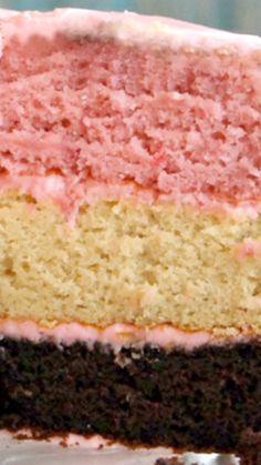 3 Layer Neopolitan Cake Recipe